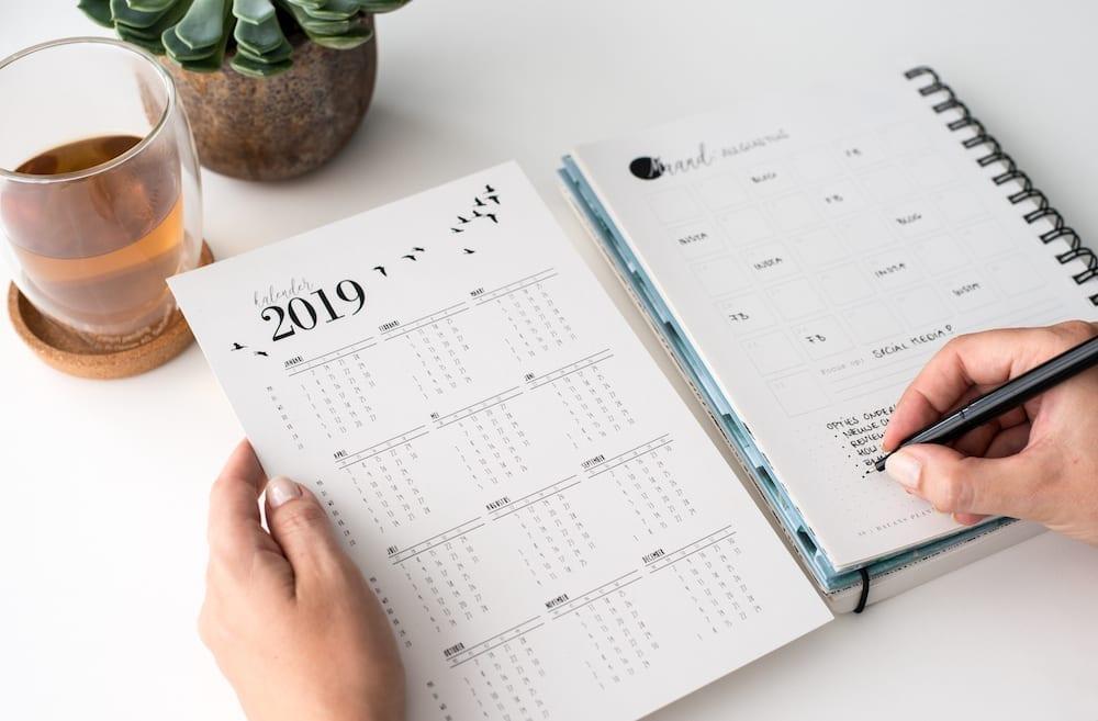 Agenda en planners voor zelfstandig ondernemers