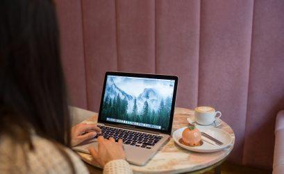 flexwerkplek bij een koffietentje in breda